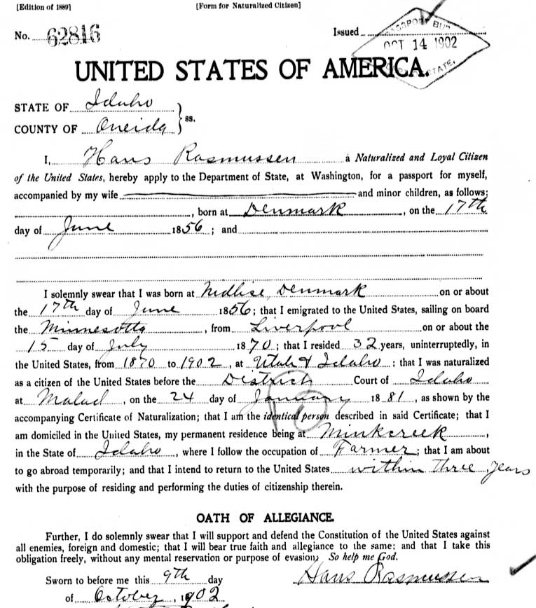 Legacy News Us Passport Applications 1795 1925 Now Online At Ancestry